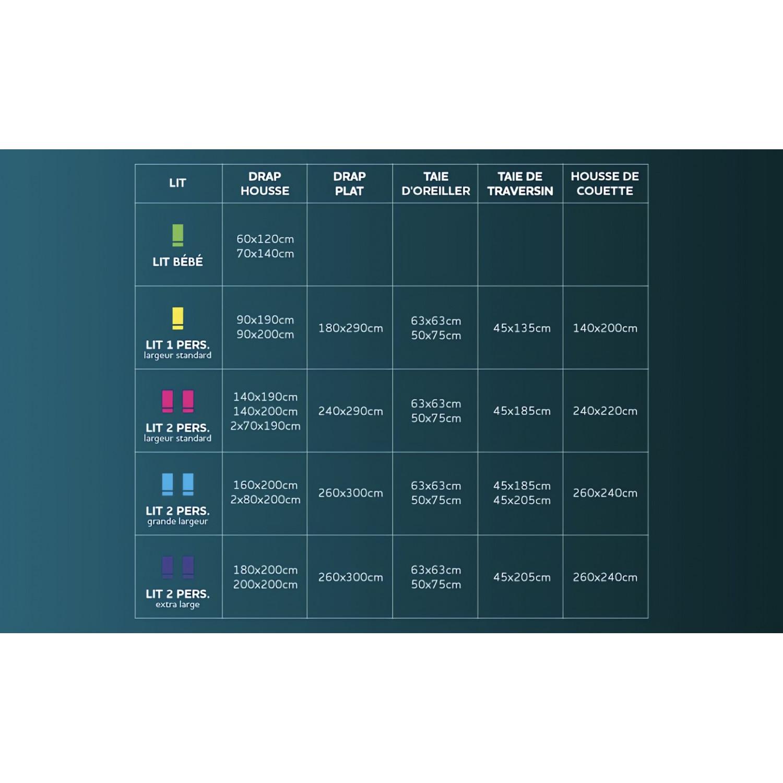 taie d 39 oreiller 65x65 cm fleur de percale taupe linge et maison. Black Bedroom Furniture Sets. Home Design Ideas