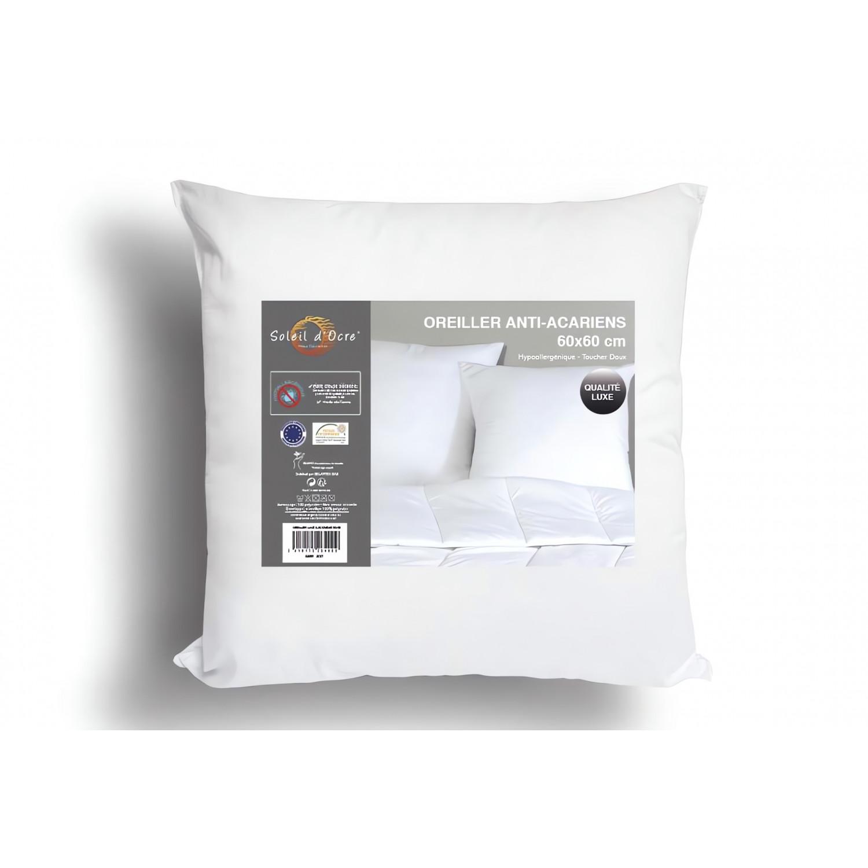 coussin d houssable 60x60 cm alix blanc par soleil d 39 ocre linge et maison. Black Bedroom Furniture Sets. Home Design Ideas