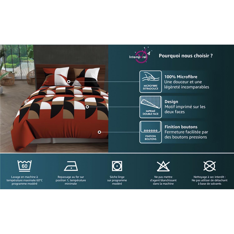 taie d 39 oreiller am ricaine en coton percale 50x75 cm. Black Bedroom Furniture Sets. Home Design Ideas
