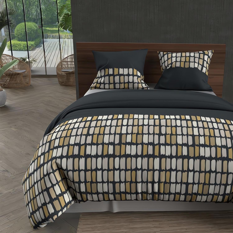 nappe anti tache ronde 180 cm alix anthracite linge et maison