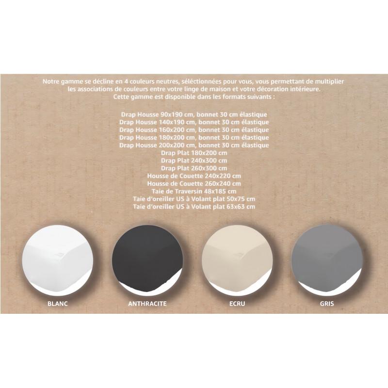 Rideau brod en coton poeme blanc nouettes par soleil d 39 ocre li - Rideau coton blanc brode ...