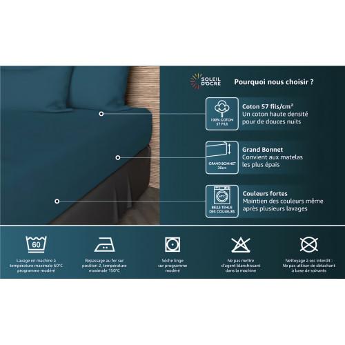 couette imprim e 220x240 cm so zen noir par soleil d 39 ocre linge e. Black Bedroom Furniture Sets. Home Design Ideas