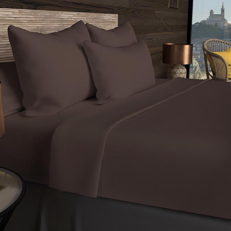 couvre lit boutis matelass 260x240 cm c 39 est la vie avec 2 taies d 39 oreiller linge et maison. Black Bedroom Furniture Sets. Home Design Ideas