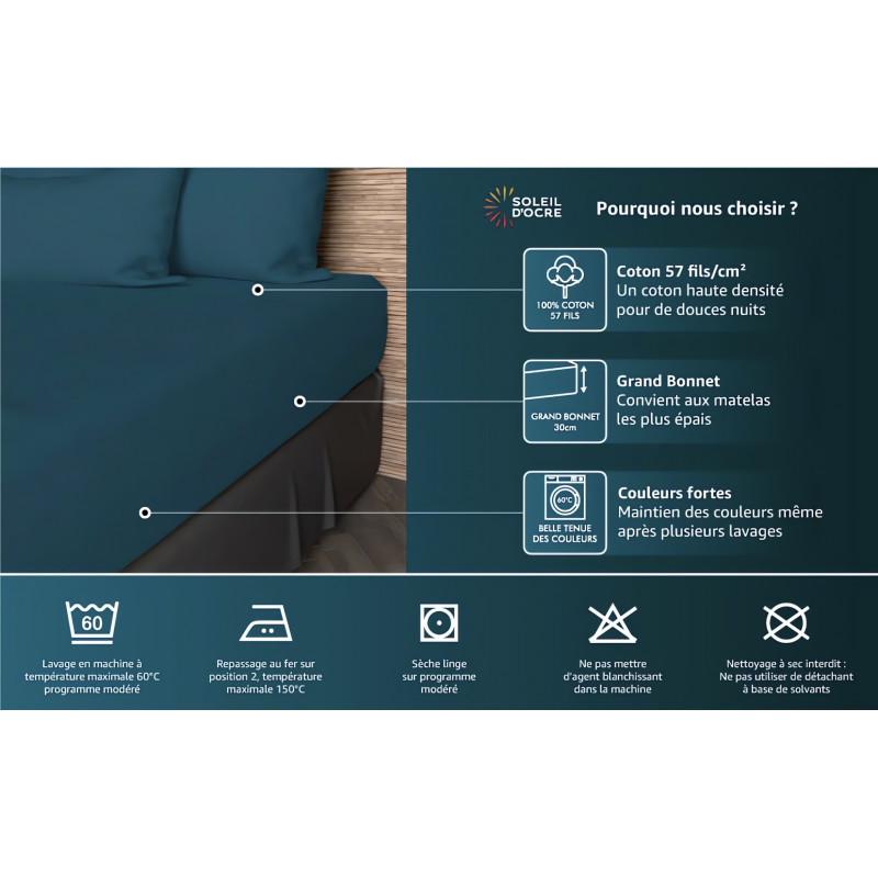 couette imprim e 220x240 cm my love noir par soleil d 39 ocre linge. Black Bedroom Furniture Sets. Home Design Ideas