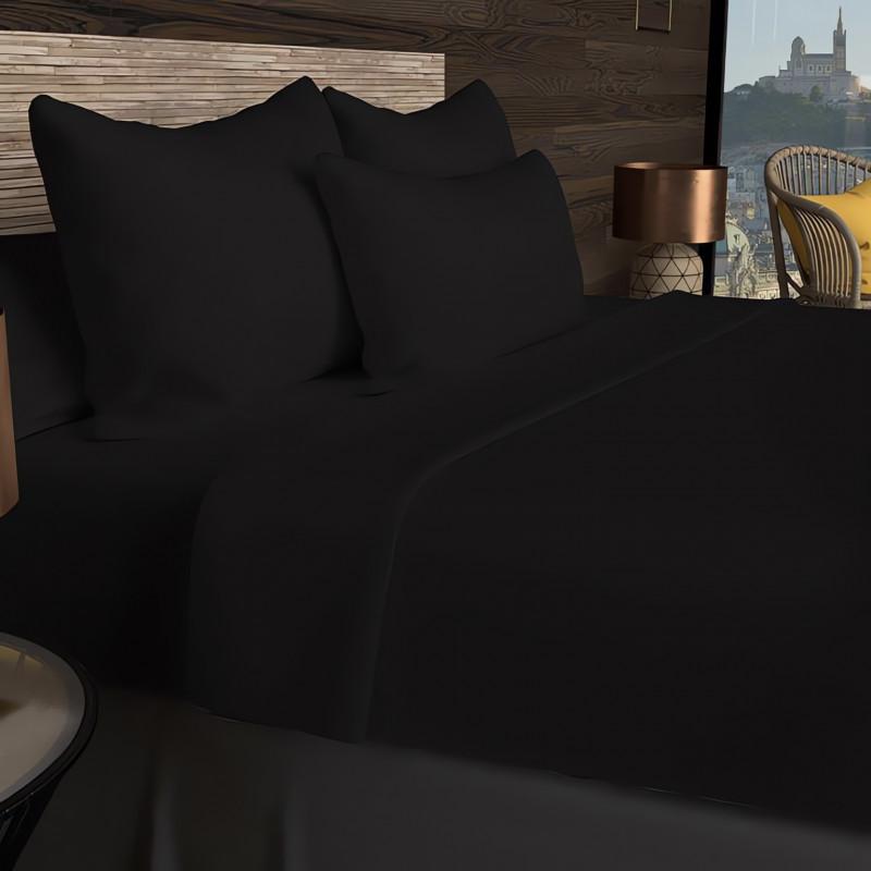 rideau oeillet en coton 135x250 cm damier jaune linge et maison. Black Bedroom Furniture Sets. Home Design Ideas