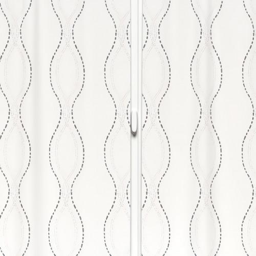 Voilage gris à oeillets métal