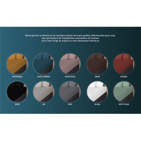 """Bougie carrée """"ZED"""" c./ blanc Dimensions : 12x12 cm"""
