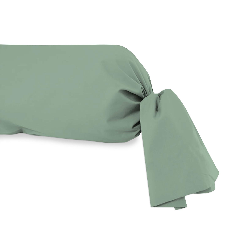 taie de traversin en coton 57 fils pour lit 160 cm alabama blanc linge et maison. Black Bedroom Furniture Sets. Home Design Ideas