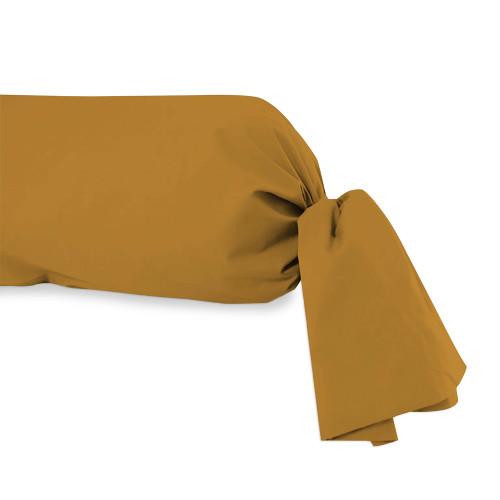 linge de lit 160 cm Taie de traversin en coton 57 Fils pour lit 160 cm ALABAMA cafe  linge de lit 160 cm