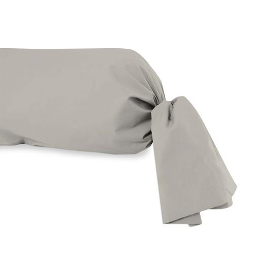 Taie de traversin en coton 57 Fils pour lit 160 cm ALABAMA ivoire