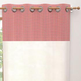 Taie de traversin en coton 57 Fils pour lit 160 cm ALABAMA terracotta
