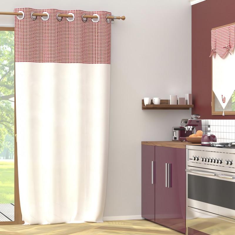 Taie de traversin en coton 57 Fils pour lit 160 cm ALABAMA vanille