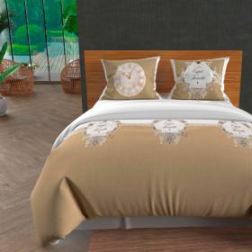 Paire de brise bise 45x90 cm DOLLY gris clair