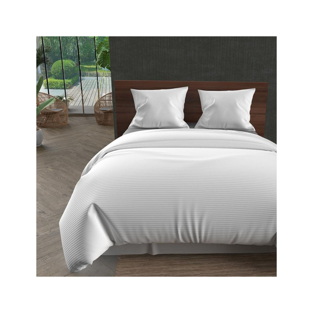 nappe carr e en coton anti t ches 180x180 cm vichy gris. Black Bedroom Furniture Sets. Home Design Ideas