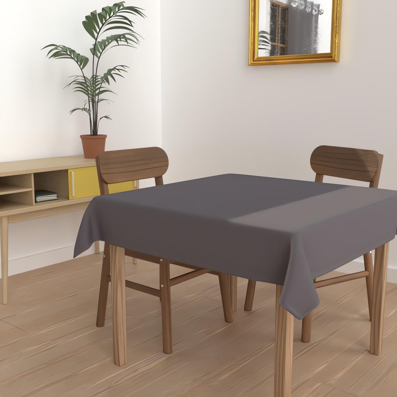 taie d 39 oreiller 65x65 cm en coton uni 57 fils soleil d 39 ocre anthracite linge et maison. Black Bedroom Furniture Sets. Home Design Ideas