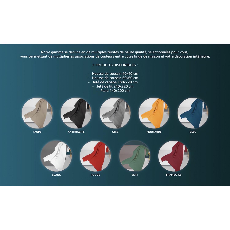 drap housse 140x190 cm en coton 57 fils soleil d 39 ocre marine ling. Black Bedroom Furniture Sets. Home Design Ideas