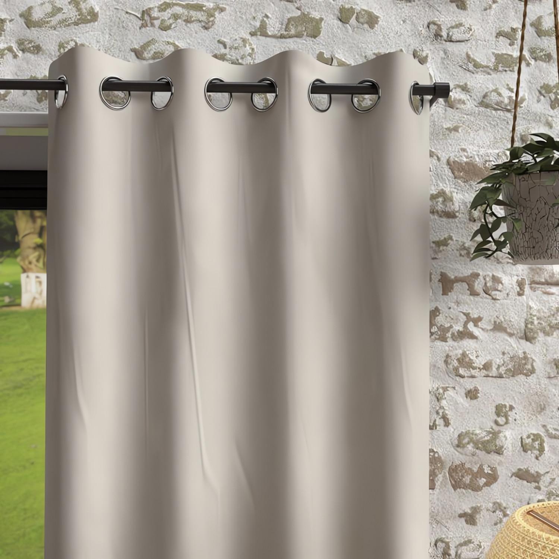parure de lit 4 pi ces lea taupe linge et maison. Black Bedroom Furniture Sets. Home Design Ideas